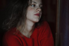self portrait (Paola Valli) Tags: portrait ritratto face faces people persona persone italy rome roma interno home house creamy colours red eyes emotions feeling season seasons nvember november nikon 50mm f18 vogue esuli scattifotografici scatto photo photography photographer flickr
