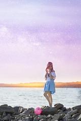 Lacus Clyne (bdrc) Tags: asdgraphy gundam seed destiny lacus clyne cosplay girl portrait sea beach sunset dusk edit bella outdoor sepang gold coast avani