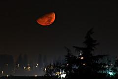 Urban Moonset (flubatti) Tags: moon moonset nightscape landscape