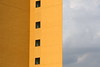 Triptych (Elios.k) Tags: horizontal outdoors jusangjeolli nopeople abstract building yellow colour sky cloudy windows travel travelling color summer august 2016 canon 5dmkii camera photography jungmun jeju jejudo island korea southkorea asia