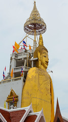 Buddha statue in Bangkok, Thailand (phuong.sg@gmail.com) Tags: ancient antique architecture art asia asian bangkok belief buddha buddhism buddhist calm church culture design devotion figure god gold golden heritage holy isolate isolated metal peace religion religious sacred sculpture serene serenity siam sitting spirit spiritual spirituality statue temple thai thailand tourism traditional travel venerable white worship