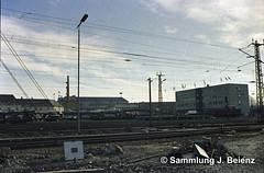 Mnchen   Ostbahnhof 1970 (Pacific11) Tags: mnchen munich 1970 1971 vintage alt selten bilder bayern ostbahnhof tram trambahn bahnhof train track