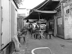 Breakfast Time-Canon S90 (Floy Chan) Tags: canons90 blackwhite backlane