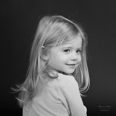 Portrait of toddler girl in black and white (alexander.dischoe) Tags: toddler girl mdchen portrait bw blackandwhite blackwhite schwarzweiss studio blond hair nikon d800e nikkor2470mm nikon2470mm vollvormat fx