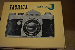 Yashica Penta J Box (Callum's Buses & Stuff) Tags: yashica yashicapentaj penta pentaj j slr camera vintagecamera japan japaneese box manual case strap lens