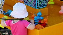 Fisherbaby (patrick_milan) Tags: baby game enfant child children hat fish duck canard pink rose