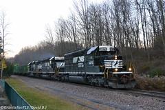 NS 3470 EMD SD40-2 (K82) (Trucks, Buses, & Trains by granitefan713) Tags: train freighttrain mixedfreight manifest railroad sunburyline nssunburyline railfan ns norfolksouthern emd electromotive emdsd402 sd402 yardpower localpower lashup