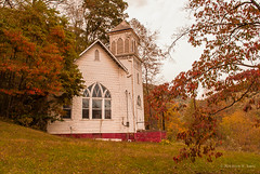 Sitting Among the Trees (Back Road Photography (Kevin W. Jerrell)) Tags: rodaroad appalachia virginia wisecounty churches backroadphotography fall faith christian nikond60 autumncolors abandoned colorful autumn rodabaptistmission daysgoneby