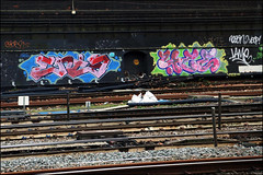 Enta / 4ce (Alex Ellison) Tags: enta 4ce westlondon urban trackside railway graffiti graff boobs