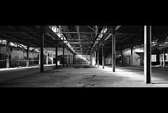 nameless.proportion (jonathancastellino) Tags: toronto architecture abandoned derelict decay ruin ruins hasselblad xpan film ilford xp2 analog analogue loblaws warehouse graffiti beam light proportion poem