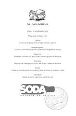 Menu SODA (thelemonexperience) Tags: gastronomia cook cooking degustación tastingcocina cocinar murcia españa thelemonexperience lemon limon viajar experiencia puertorico santurce miramar sanjuan viejosanjuan soda
