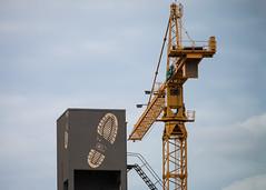(RaminN) Tags: tower crane foot print portland oregon strairs usa perspective