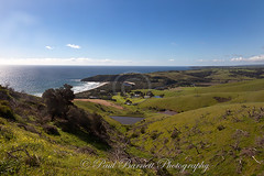 View over Snelling Beach (slaup) Tags: view vista landscape snellingsbeach pools farmland farms sea coast fields kangarooisland southaustralia australia photography