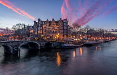 Papiermolensluis Amsterdam (Mario Visser) Tags: amsterdam papiermolensluis water cityscape citylights night twilight sunset canal d7100 sigma 1020 nikon netherlands nederland