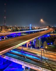 Crosstown Traffic (adamkylejackson) Tags: houston traffic texas downtown morning cars