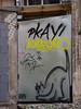 AJS's Cat (Steve Taylor (Photography)) Tags: andrewjsteel ajs cat crouching pkay lon animal art cartoon graffiti streetart tag building damage broken block gravel stone wood newzealand nz southisland canterbury christchurch city cbd outline