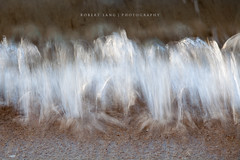 Waves crashing on beach, ocean movement (Robert Lang Photography) Tags: ocean sea brown white abstract water movement tide stock wash rush splash liquid current splashing rushing seawater rushingseawater oceanmovement