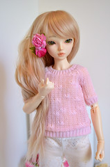 New wig (Milk and Bunny) Tags: pink baby rose ball grey doll skin ns chloe clothes wig bjd normal fairyland jointed mnf babypink leekeworld minifee