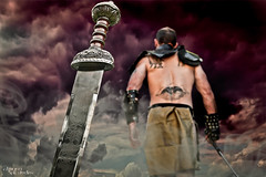 169 (Drummy ) Tags: clouds photoshop project story armor sword imagination series blade 365 cinematic gladiators drummy ayearofpictures drumrollstudios