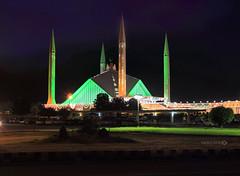 Faisal Masjid (Aadilsphotography) Tags: pakistan architecture night canon 50mm lights long exposure decoration masjid faisal islamabad