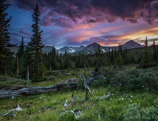Indian Peaks sunset