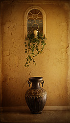 the mirror (seaChange41) Tags: mirror candle ivy plaster textures pot flypaper ghostworks
