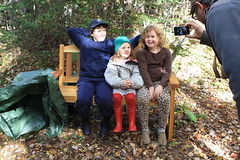 """on the bench"" (Sarah Wesley Farm) Tags: bench woods jane alice henry thanksgiving2013"