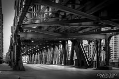 Bridge the Gap (UH82NVMy Photography) Tags: bridge chicago train canon traintracks t3i canont3i