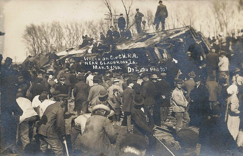 Gladbrook, Green Mountain, Iowa, Train Wreck, Rock Island Railroad