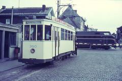 Once upon a time - Belgium - Gent / Gand / Ghent (railasia) Tags: belgium flanders gent gand mivg metergauge routenº2 infra endstop motorcar threeaxle railtramwaycrossing nmbssncb sixties