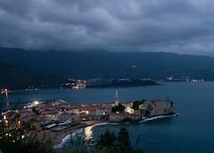 Черногория. Старая Будва (varfolomeev) Tags: sea mountains night montenegro ночь горы море 2013 черногория olympuse410