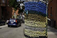 Yarn Bomb Me (phillytrax) Tags: city urban usa streetart philadelphia america unitedstates pennsylvania centercity pa philly fitlersquare gho guerillaart cityofbrotherlylove yarnbombing