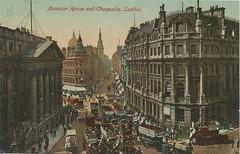 Inglaterra - Mansion House and Cheapside, London (tico_manudo) Tags: london england vintagepostcards tarjetaspostalesvintage mansionhouseandcheapside