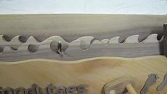 Sandytoes Algarve Automaton VIDEO (Wanda Sowry) Tags: wood uk dog west colour art beach portugal car toy coast moving wooden movement sand rocks surf waves jeep handmade surfer parts cam dunes footprints craft cliffs hills gift present british algarve landrover cog mechanism automata automaton sandytoes
