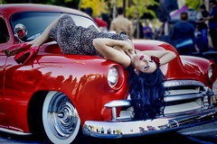 Kitten's Kouture Grand Opening Car Show & Charity Event (dmentd) Tags: chevrolet chevy custom pinup