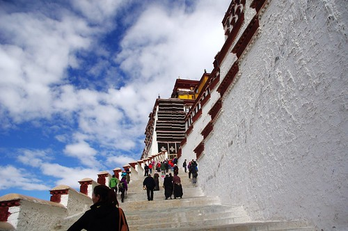 Upstairs, the Potala Palace in Lhasa