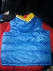 Blue and Yellow nylon bodywarmer (Clothes Mountain) Tags: blue yellow coat jacket nylon padded bodywarmer flickrandroidapp:filter=none