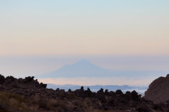 Mount Taranaki from Soda Springs, Tongariro Crossing (Emily Miller Kauai) Tags: newzealand mountain volcano crossing hike mount alpine northisland tongariro taranaki