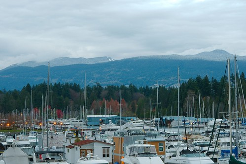 Cypress Mountain from Coal Harbour Marina