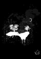 Tree-Fall (darkdragoon) Tags: world new sky moon tree art fall clouds dark design drops paint order dream surreal popart fantasy fate future reality minimalism mystic paradox dragoon 2013 akrylic