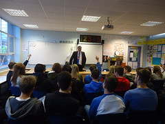 "Stephen Mosley MP talks about politics with Christleton High School 6th formers • <a style=""font-size:0.8em;"" href=""http://www.flickr.com/photos/51035458@N07/11015937873/"" target=""_blank"">View on Flickr</a>"