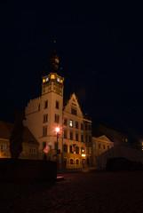 Town hall (Dominique-Thomas) Tags: camera city autumn light weather architecture night clouds town nikon czech noflash czechrepublic rathaus nikondigital evangelical d3000 nikond3000 hustopeeubrna