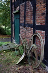 Farmland (dididumm) Tags: old brick wheel vintage alt farm farming l