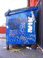 Trash Bin (FONS One, UFK CMK) Tags: trash graffiti los wolf angeles tag tags boom deli ive sue mbk rem hex bins fonz iver jerk kws hemp skim bws fons hexer boomk baso swa fonze ufk stim taker seol fonce savek cwv n98 esoh fonse cwvk