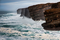 Yesnaby (joeri-c) Tags: ocean uk winter sea wild water photoshop islands scotland orkney nikon rocks waves cliffs atlantic nikkor lightroom yesnaby choppy the4elements d5000 1685mm