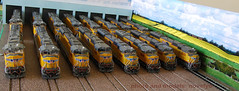Union Pacific SD70Ms - HO Scale (novelyo) Tags: unionpacific flared sd70m