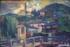 Romualdo Prati Calceranica olio su tavola 24x36cm Collezione privata
