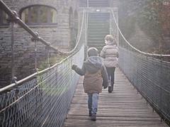 a year of sunday 13/52 (idni . idniama) Tags: bridge fence 50mm nikon village woodenbridge gettyimages 2014 rupit magicalmoment ayearofsundays idni gettyimagesiberiaq3 unañodedomingos childrencrossingabridge