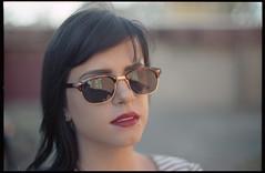 Corie... professional sunglass model (KyleKisling) Tags: film 35mm 50mm kodak f14 ishootfilm konica expired 50mmf14 expiredfilm portra160nc filmisnotdead konicafs1 expiredportra160