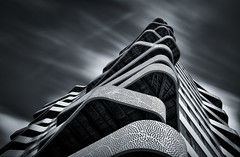 Tidal Wave (80D-Ray) Tags: blackandwhite abstract architecture nijmegen lookingup balconies nd110 hartvanhatert
